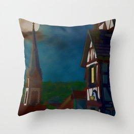 Black Forest Travel Poster Germany Throw Pillow