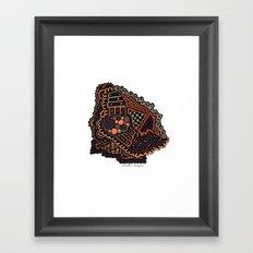 Digging Framed Art Print