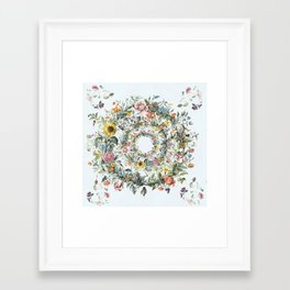 Circle of Life in  Blue Framed Art Print