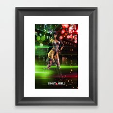 Scarlett Johansson as Motoko Kusanagi - Ghost in the Shell Framed Art Print