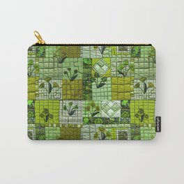 Patchwork in green Carry-All Pouch