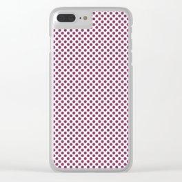 Boysenberry Polka Dots Clear iPhone Case