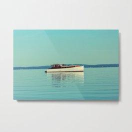Boat on Blue Metal Print