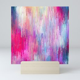 Colorful Abstract Paint Cascade Design Mini Art Print