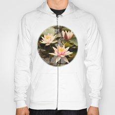 Pale pink lilies Hoody