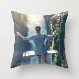She Believes (Color) Throw Pillow