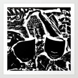 Sketched Masks Art Print