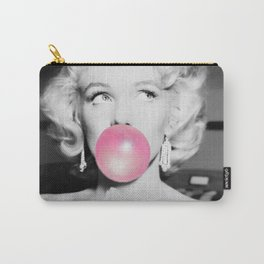Bubble Gum Marilyn pop art portrait black and white photography - black and white photographs Carry-All Pouch