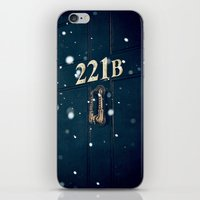 221b iPhone & iPod Skins featuring Victorian 221B by MarinaArt