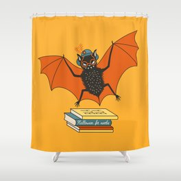 Bat granny book lover Shower Curtain