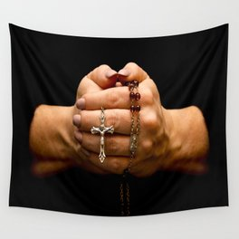 Grasping Faith Wall Tapestry