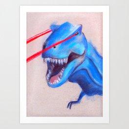 Laser Dino Art Print
