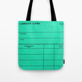Library Card BSS 28 Turquoise Tote Bag