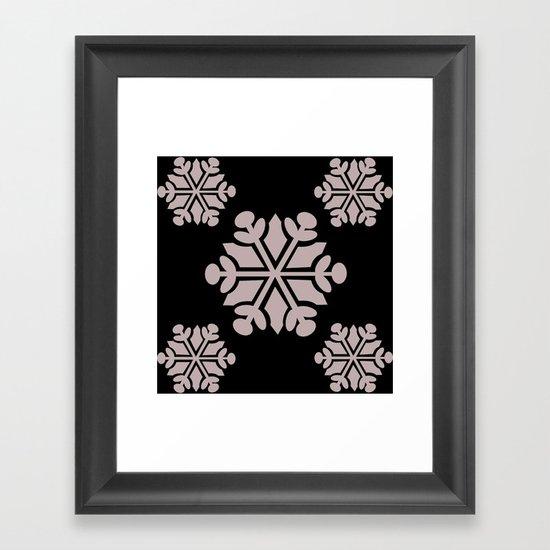 snowflake 6 Framed Art Print