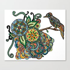 A Colorful Little Birdie Told Me So Canvas Print