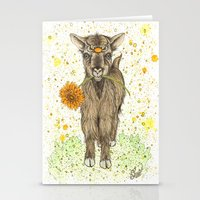 goat Stationery Cards featuring Goat by Nikki Laxar