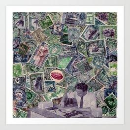 Stamp series no.6 Art Print