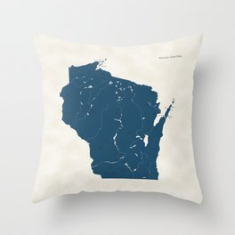 Wisconsin Parks - v2 Throw Pillow