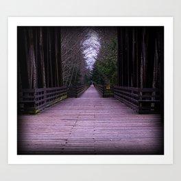 Cold Dark Bridge Art Print