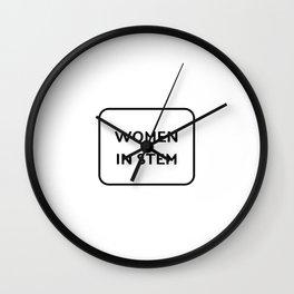 Women in STEM Wall Clock