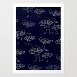 Mushroom Pattern II Art Print