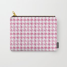 Watermelon Pink Houndstooth pattern Carry-All Pouch