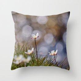 Mountains flowers. Endemic Throw Pillow