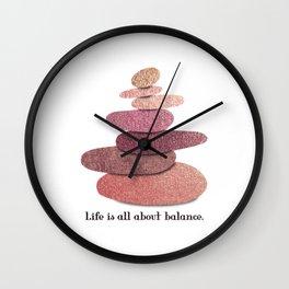 Balancing stones Wall Clock