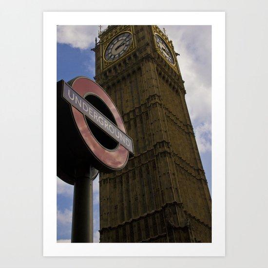 London Underground at BigBen Art Print
