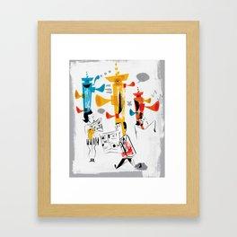 Thinking Caps Framed Art Print
