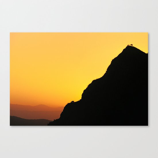 """""""Sunset at the mountains"""". Boca de la Pescá""""(1.512 meters). Canvas Print"""