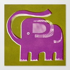 PURPLE PACHYDERM Canvas Print