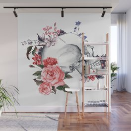 Roses Skull - Death's head Wall Mural