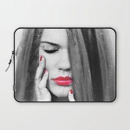 Waterfall Woman Portrait Laptop Sleeve