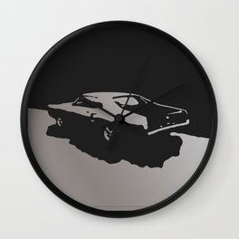 Mercury Marauder, Gray on Black Wall Clock