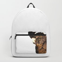 Black cockatoo illustration Backpack