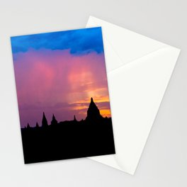 Sunset in Bagan, Myanmar Stationery Cards