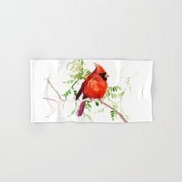 Cardinal Bird Hand & Bath Towel