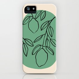 WARM SUMMER EVENING IN A LEMON GARDEN iPhone Case