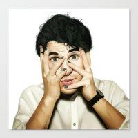 darren criss Canvas Prints featuring Darren Criss by weepingwillow
