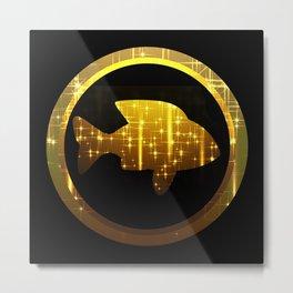 golden fish, make a wish Metal Print