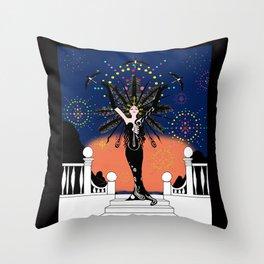 La Grande Vie Mardi Gras Throw Pillow