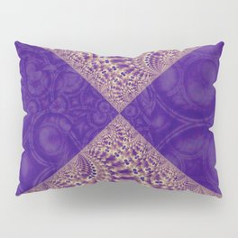 Intersection of abstract purple fractal forms Pillow Sham