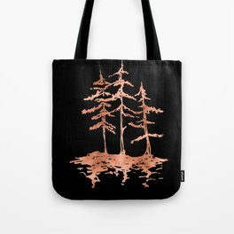 THE THREE SISTERS Trees Rose Gold Tote Bag