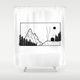 Petit campement Shower Curtain