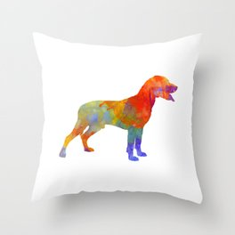Save Valley Scentrhound in watercolor Throw Pillow