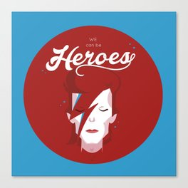 bowie forever blue Canvas Print