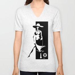 Minimalist Girl Unisex V-Neck