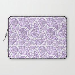 Paisley (Lavender & White Pattern) Laptop Sleeve