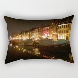 Nyhavn at night Rectangular Pillow